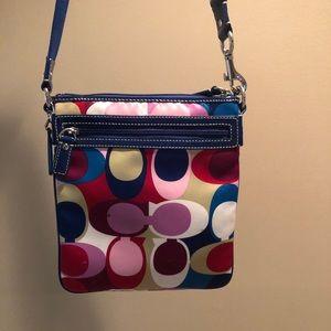 Coach vintage signature multicolor crossbody purse
